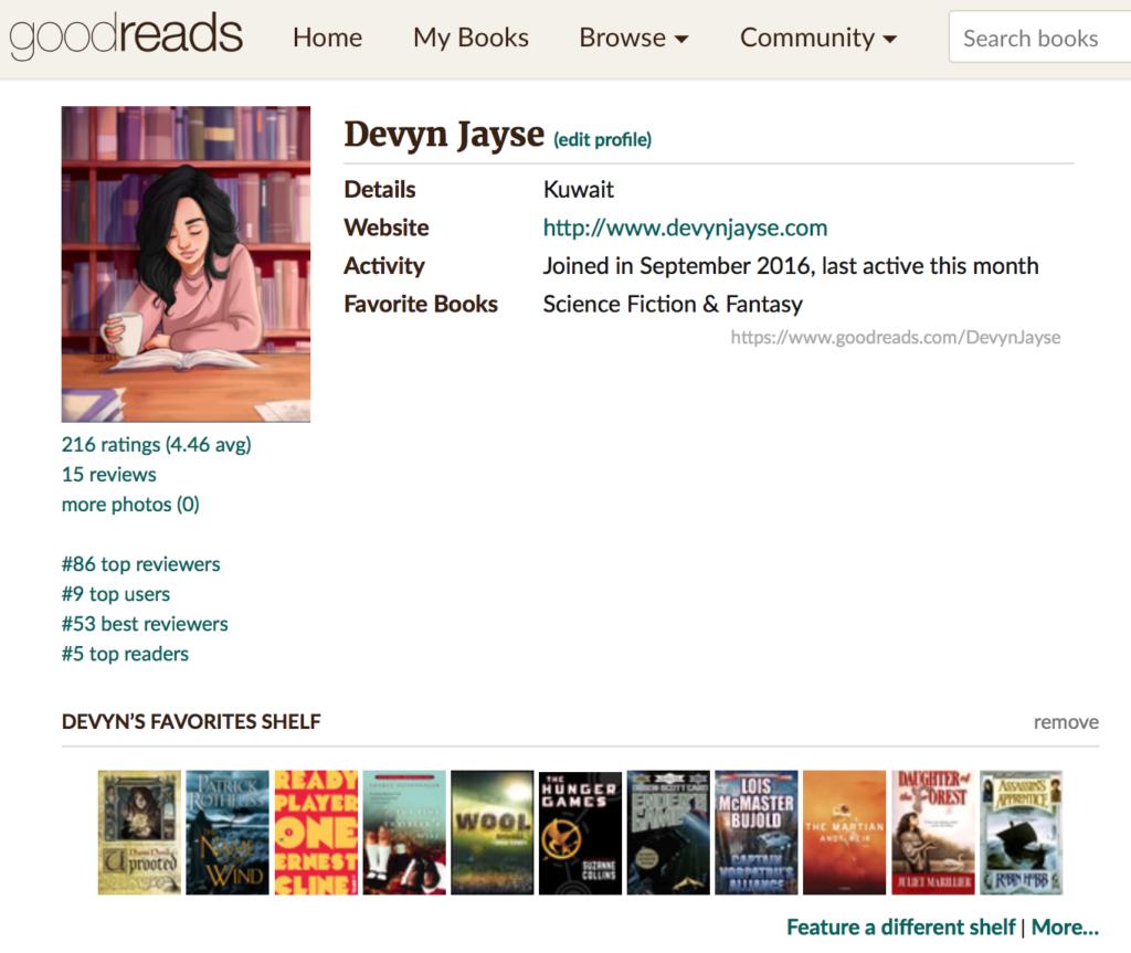 Goodreads – Devyn Jayse